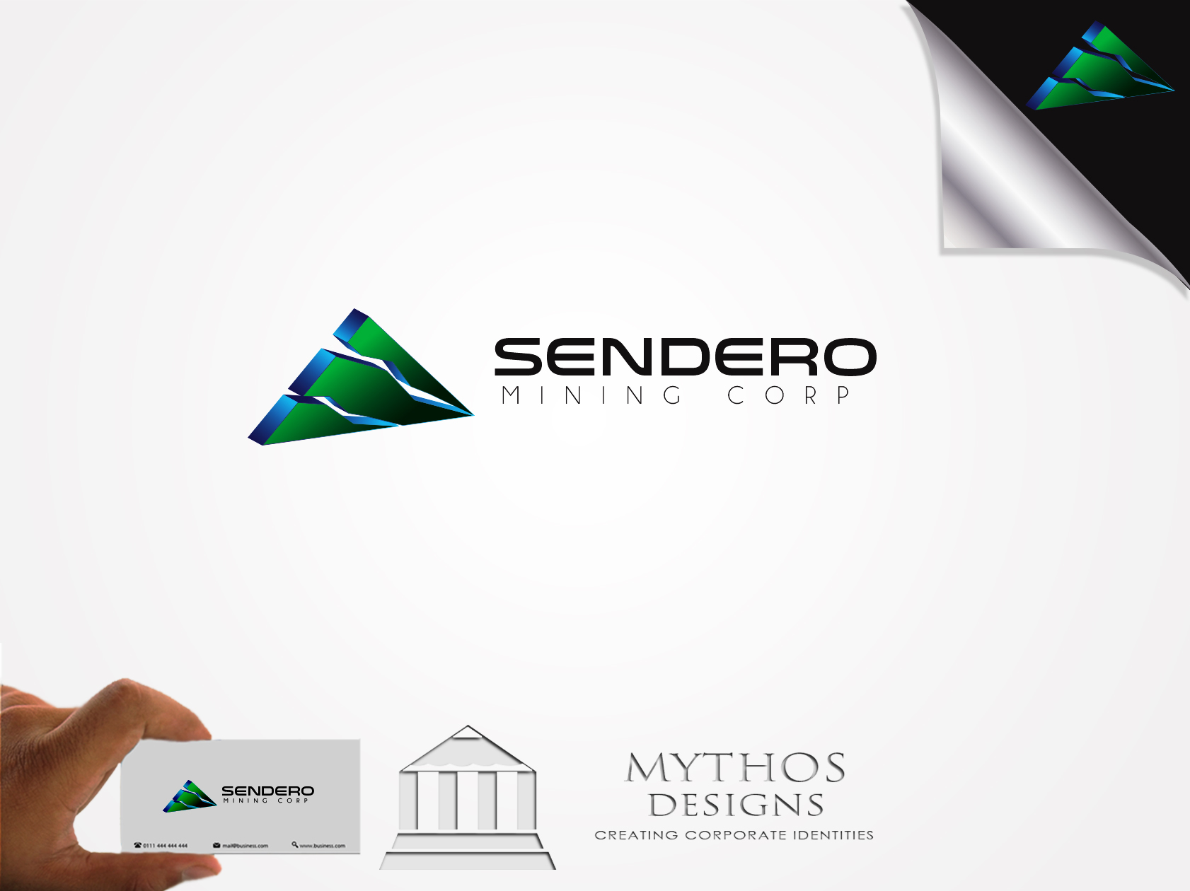 Logo Design by Mythos Designs - Entry No. 12 in the Logo Design Contest Unique Logo Design Wanted for Sendero Mining Corp..