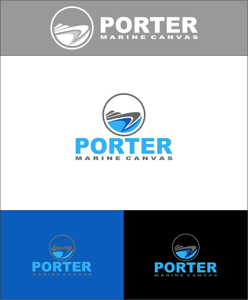 Logo Design by Agus Martoyo - Entry No. 213 in the Logo Design Contest Imaginative Logo Design for Porter Marine Canvas.