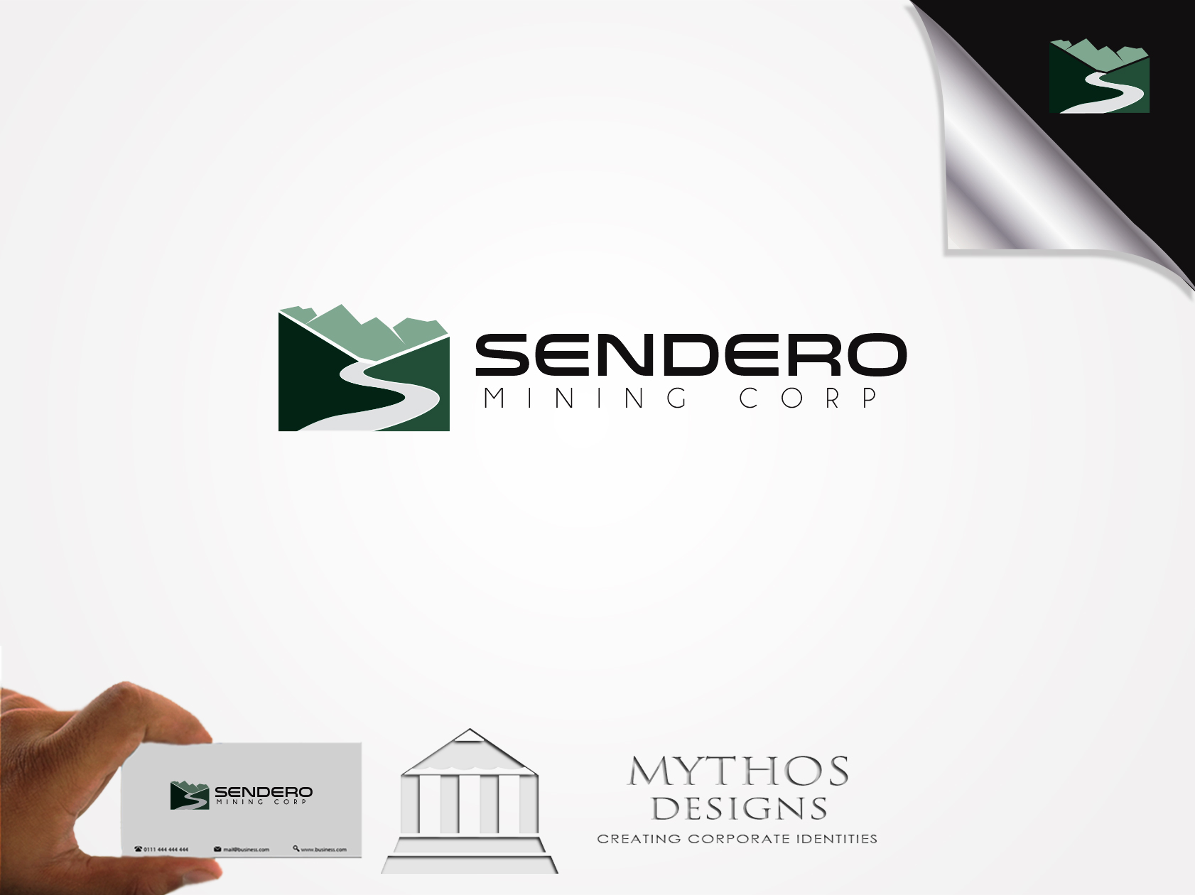 Logo Design by Mythos Designs - Entry No. 13 in the Logo Design Contest Unique Logo Design Wanted for Sendero Mining Corp..