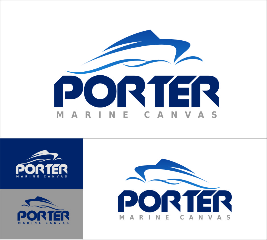 Logo Design by RasYa Muhammad Athaya - Entry No. 214 in the Logo Design Contest Imaginative Logo Design for Porter Marine Canvas.