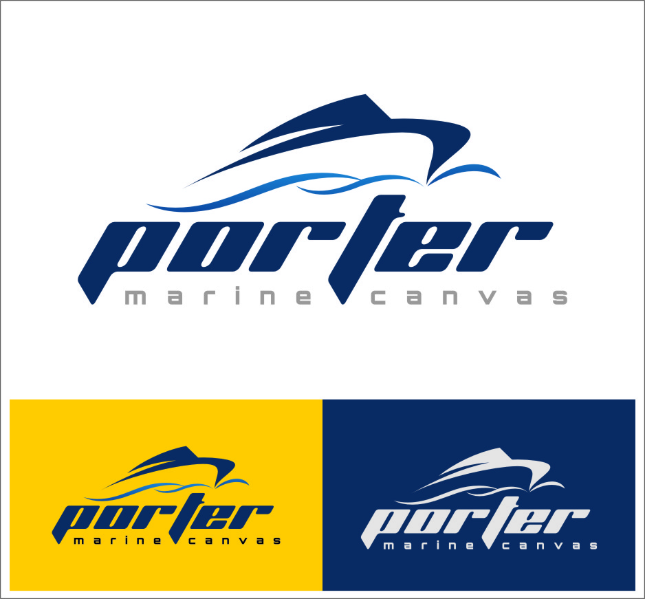 Logo Design by RasYa Muhammad Athaya - Entry No. 219 in the Logo Design Contest Imaginative Logo Design for Porter Marine Canvas.