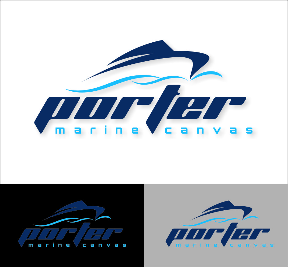 Logo Design by RasYa Muhammad Athaya - Entry No. 221 in the Logo Design Contest Imaginative Logo Design for Porter Marine Canvas.
