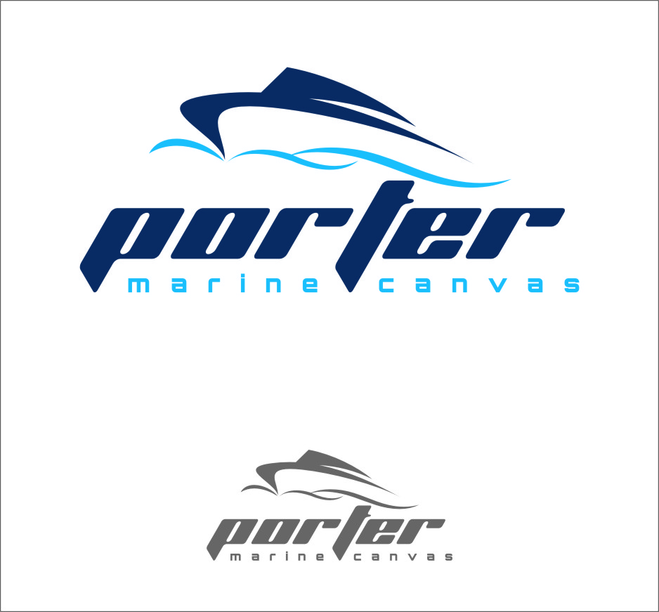 Logo Design by Ngepet_art - Entry No. 222 in the Logo Design Contest Imaginative Logo Design for Porter Marine Canvas.