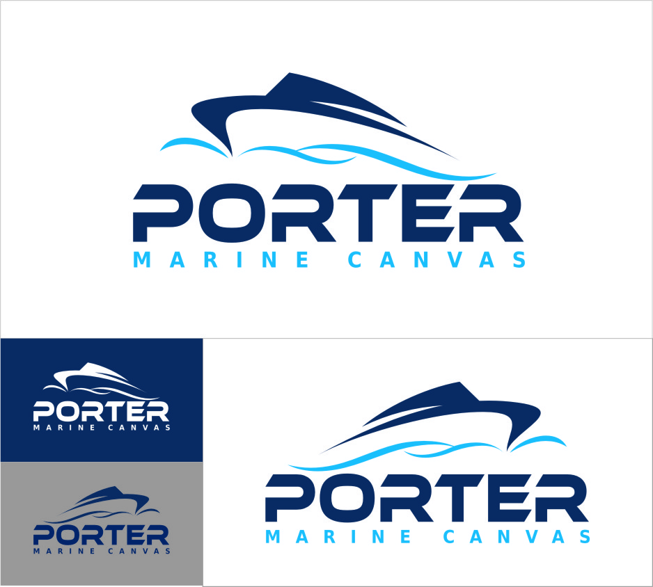 Logo Design by RasYa Muhammad Athaya - Entry No. 223 in the Logo Design Contest Imaginative Logo Design for Porter Marine Canvas.