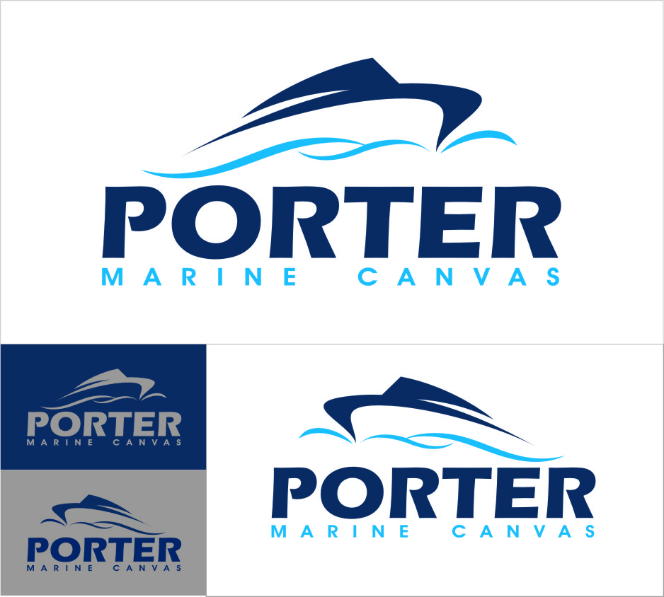 Logo Design by RasYa Muhammad Athaya - Entry No. 224 in the Logo Design Contest Imaginative Logo Design for Porter Marine Canvas.