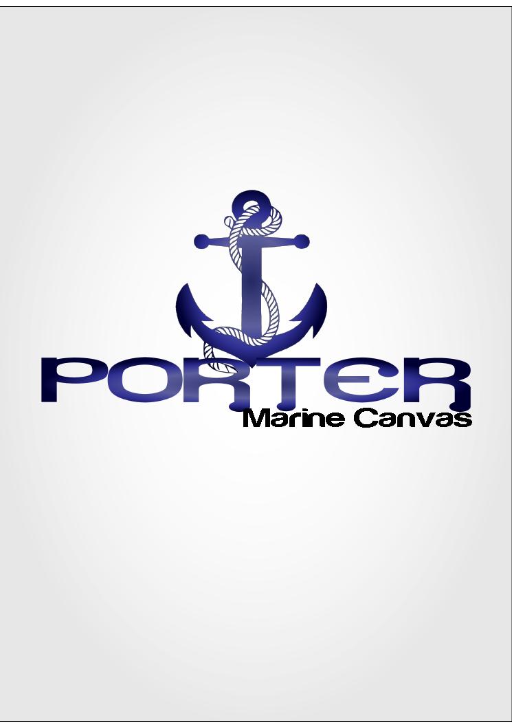 Logo Design by الملا سفيان - Entry No. 226 in the Logo Design Contest Imaginative Logo Design for Porter Marine Canvas.