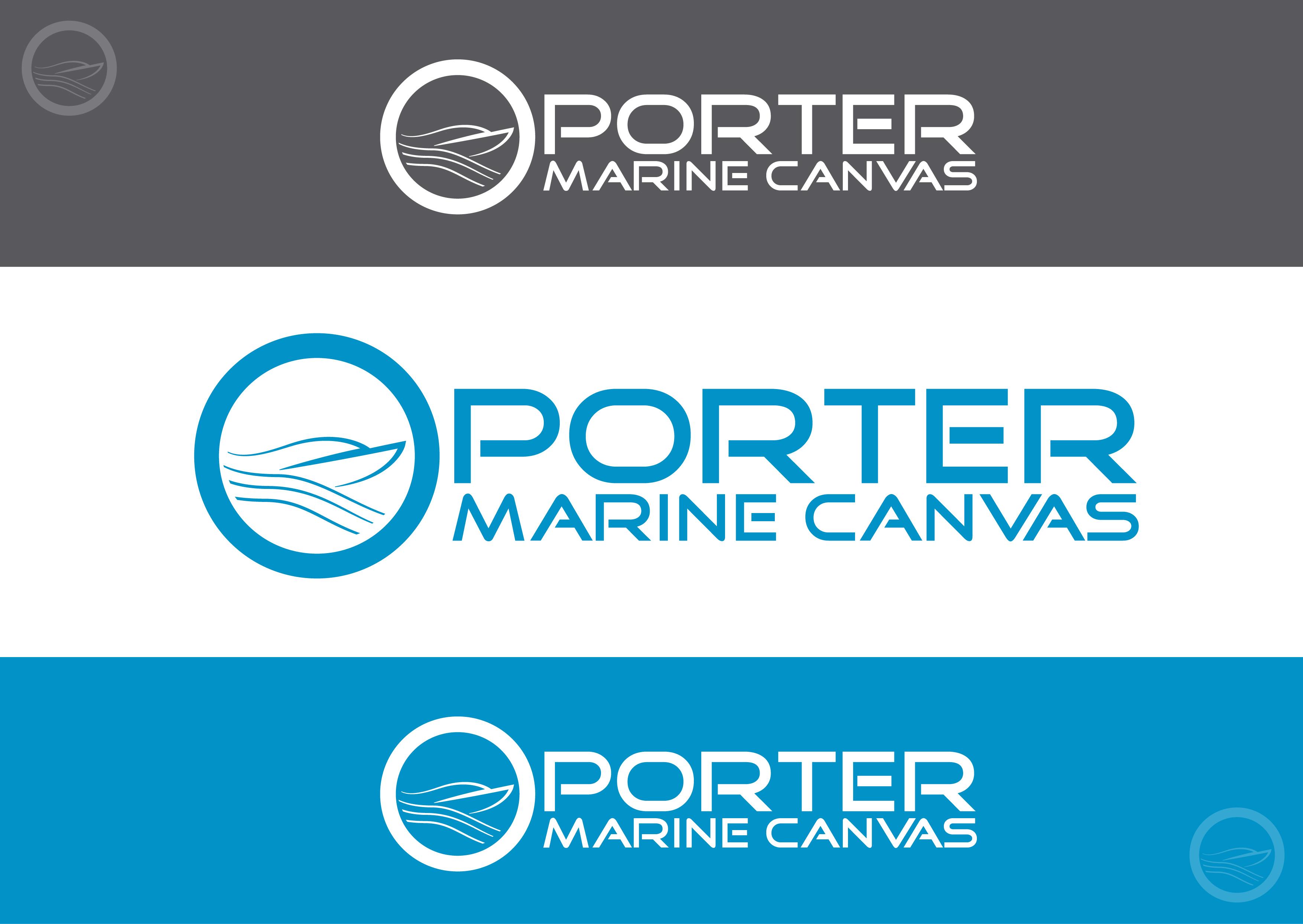 Logo Design by 3draw - Entry No. 228 in the Logo Design Contest Imaginative Logo Design for Porter Marine Canvas.