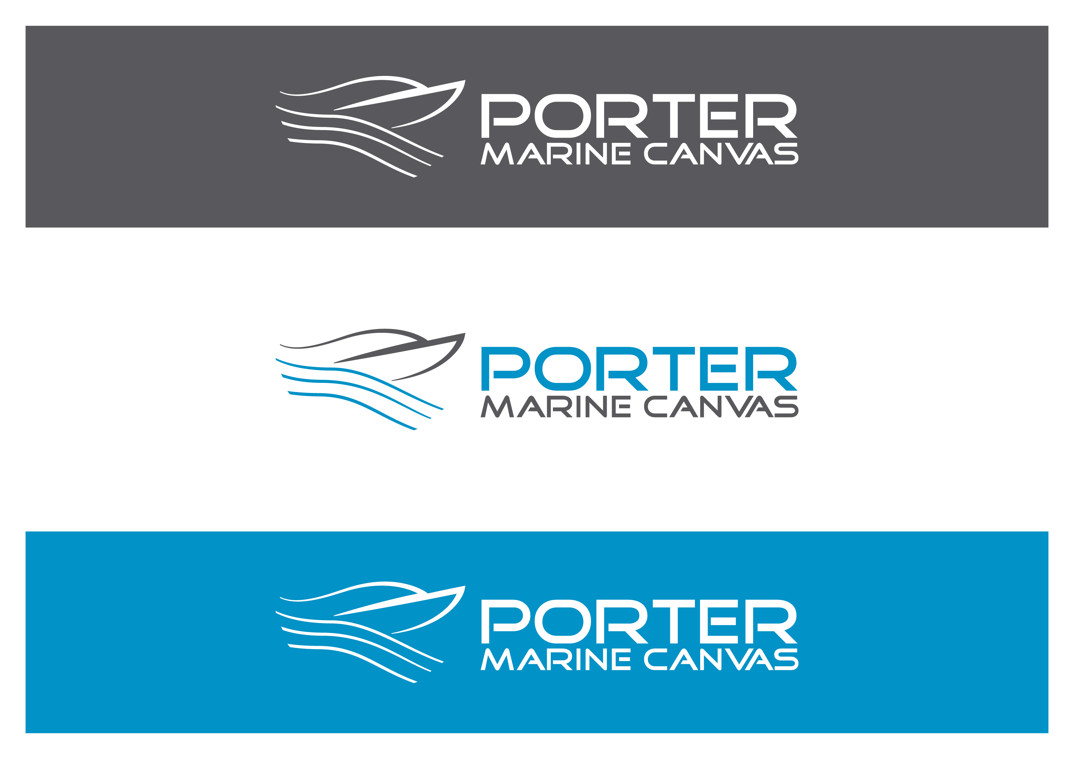 Logo Design by 3draw - Entry No. 229 in the Logo Design Contest Imaginative Logo Design for Porter Marine Canvas.