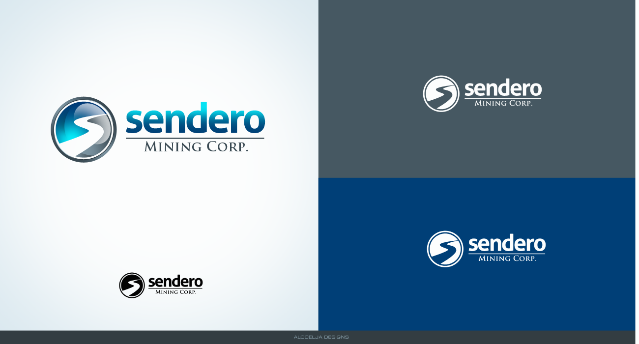 Logo Design by alocelja - Entry No. 14 in the Logo Design Contest Unique Logo Design Wanted for Sendero Mining Corp..