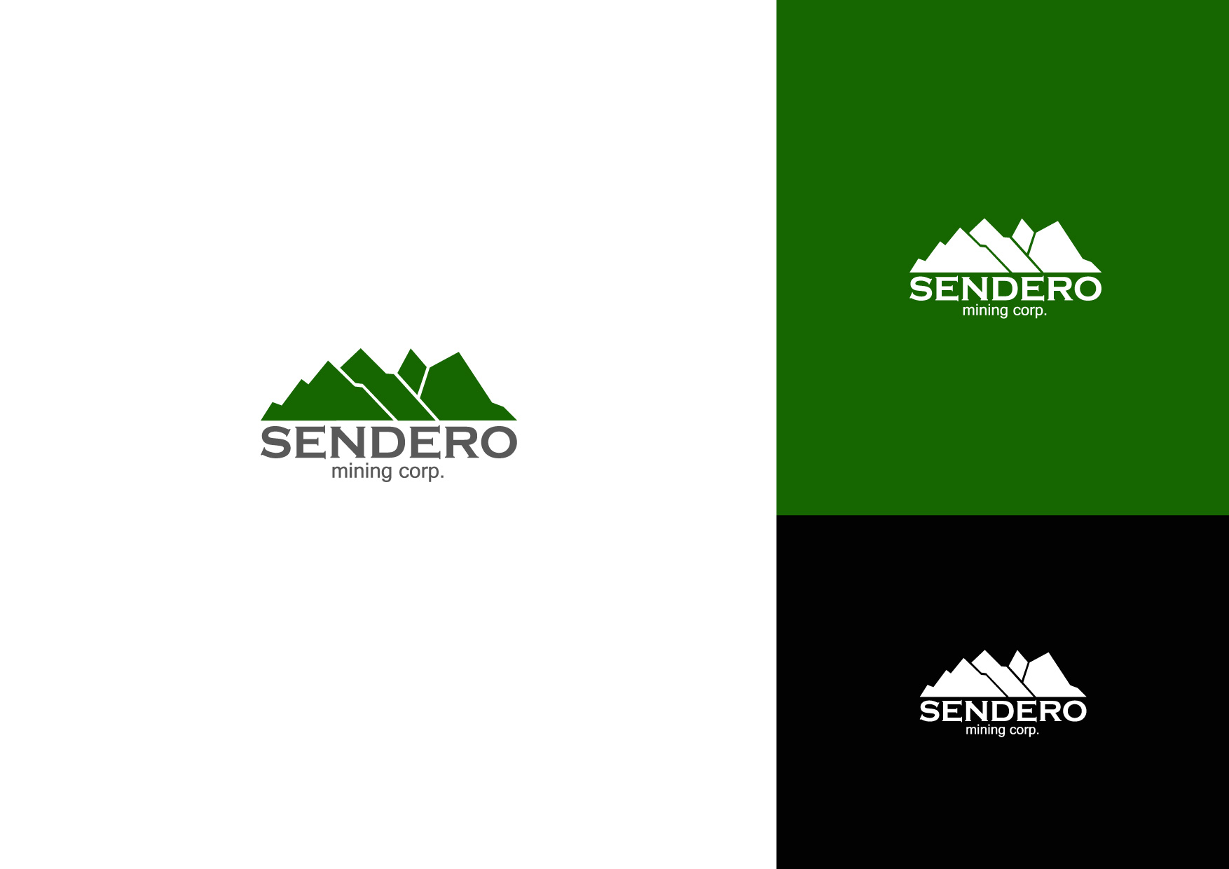 Logo Design by Osi Indra - Entry No. 16 in the Logo Design Contest Unique Logo Design Wanted for Sendero Mining Corp..