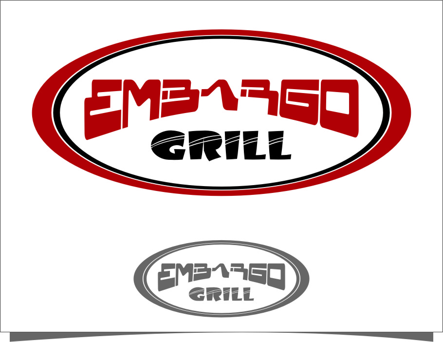 Logo Design by RasYa Muhammad Athaya - Entry No. 83 in the Logo Design Contest Captivating Logo Design for Embargo Grill.