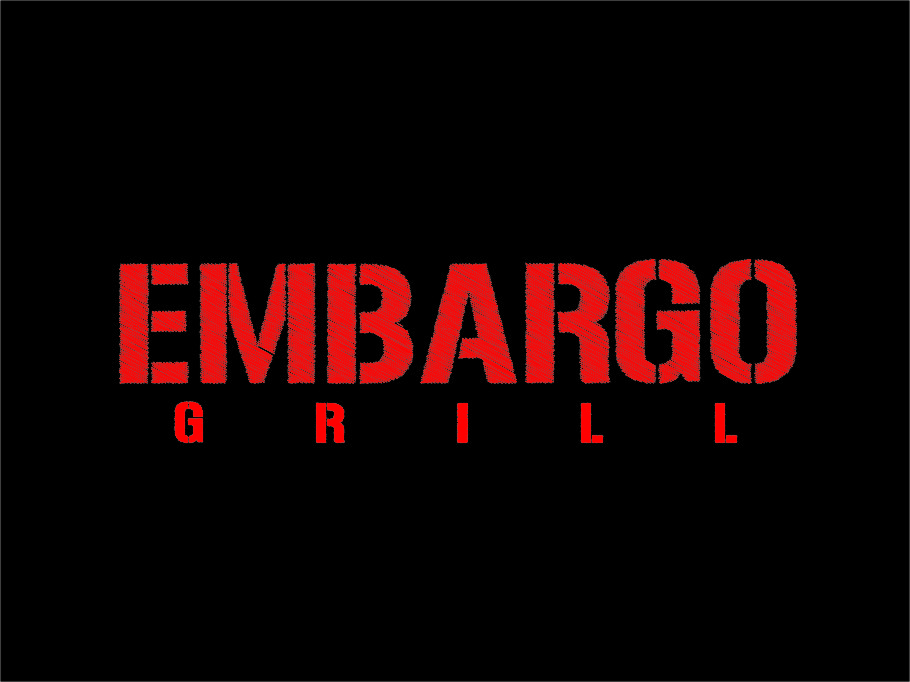 Logo Design by RasYa Muhammad Athaya - Entry No. 85 in the Logo Design Contest Captivating Logo Design for Embargo Grill.