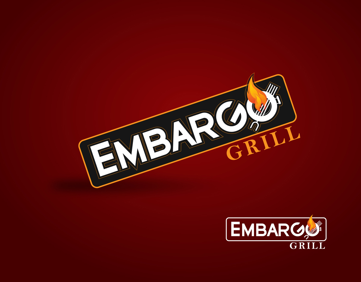 Logo Design by Mark Anthony Moreto Jordan - Entry No. 87 in the Logo Design Contest Captivating Logo Design for Embargo Grill.