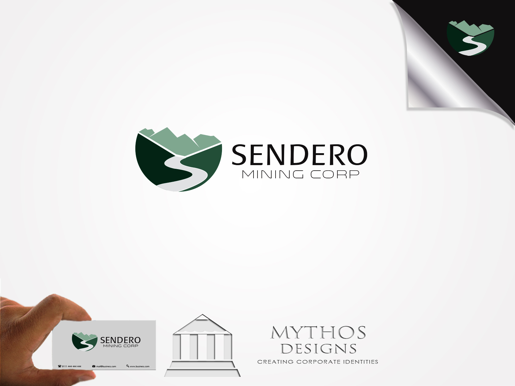Logo Design by Mythos Designs - Entry No. 20 in the Logo Design Contest Unique Logo Design Wanted for Sendero Mining Corp..