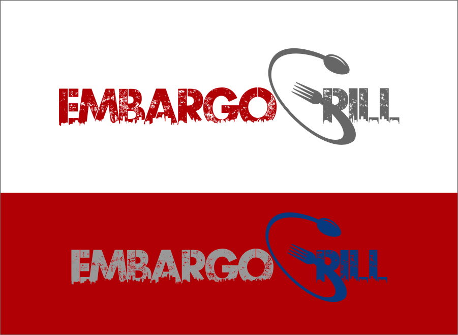 Logo Design by Ngepet_art - Entry No. 91 in the Logo Design Contest Captivating Logo Design for Embargo Grill.