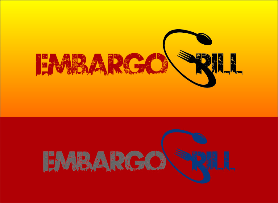 Logo Design by RasYa Muhammad Athaya - Entry No. 95 in the Logo Design Contest Captivating Logo Design for Embargo Grill.