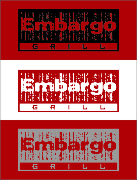 Logo Design by RasYa Muhammad Athaya - Entry No. 96 in the Logo Design Contest Captivating Logo Design for Embargo Grill.