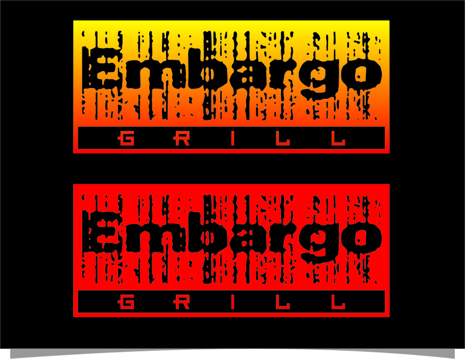 Logo Design by RoSyid Rono-Rene On Java - Entry No. 97 in the Logo Design Contest Captivating Logo Design for Embargo Grill.