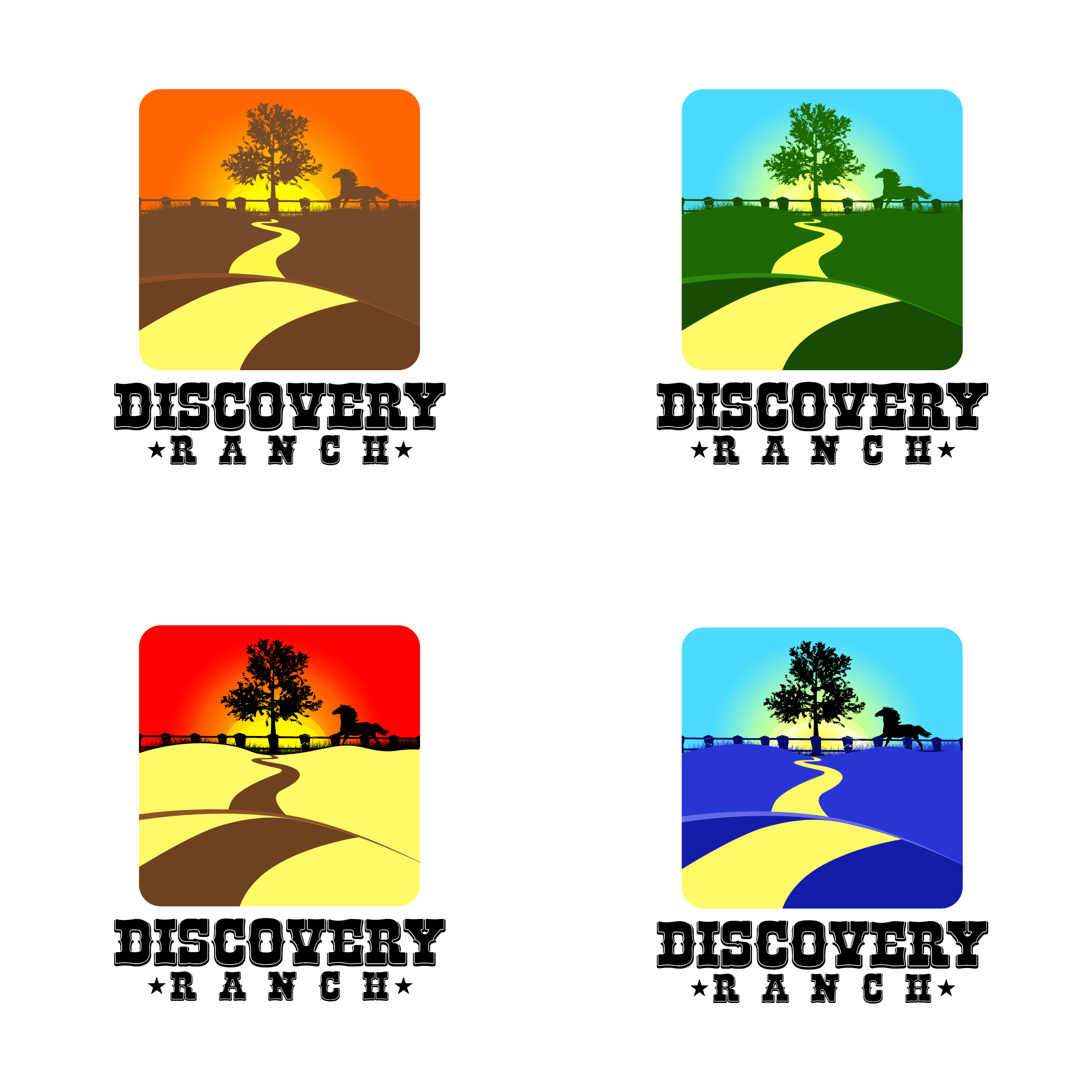 Logo Design by Kenneth Joel - Entry No. 64 in the Logo Design Contest Creative Logo Design for Discovery Ranch.