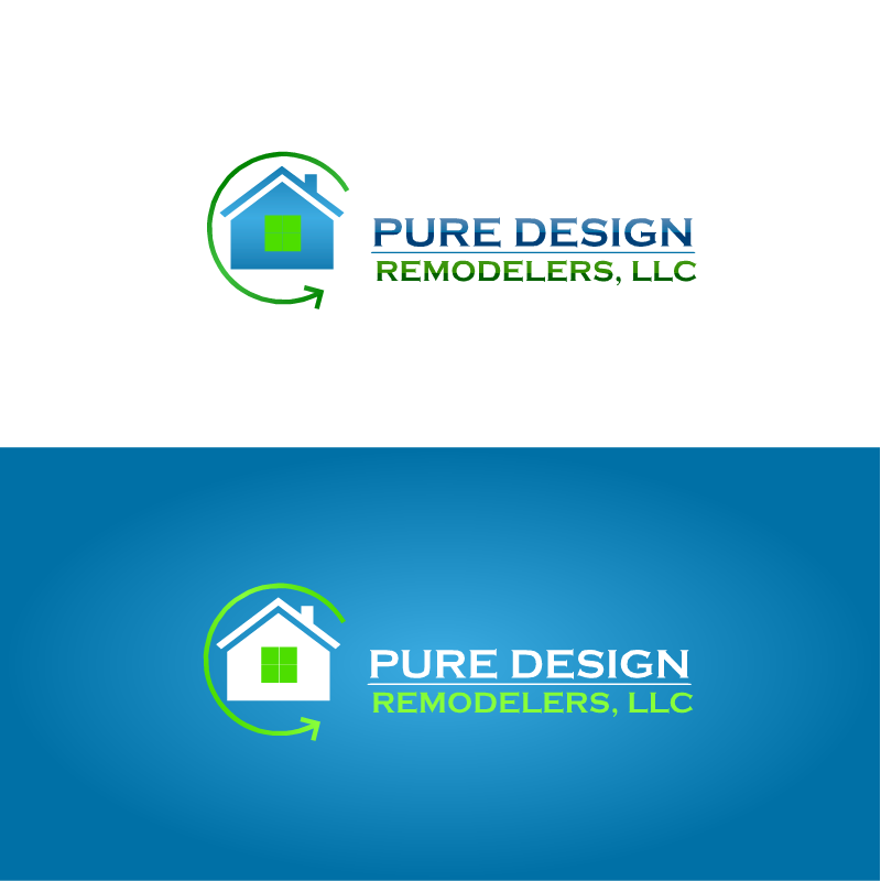 Logo Design by RAJU CHATTERJEE - Entry No. 9 in the Logo Design Contest Custom Logo Design for Pure Design Remodelers.