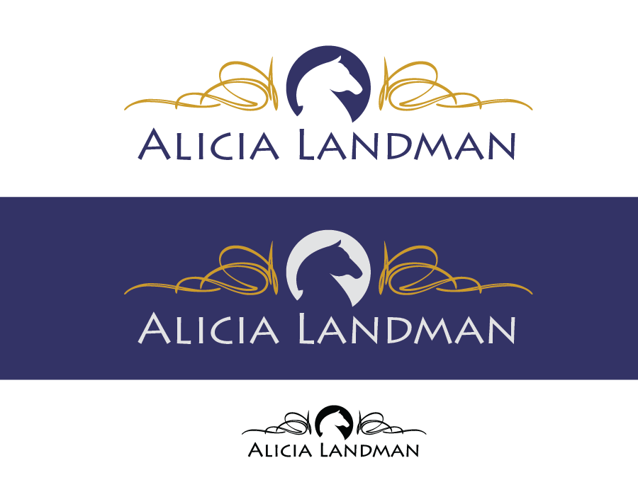 Logo Design by Christina Evans - Entry No. 1 in the Logo Design Contest Fun Logo Design for Alicia Landman.