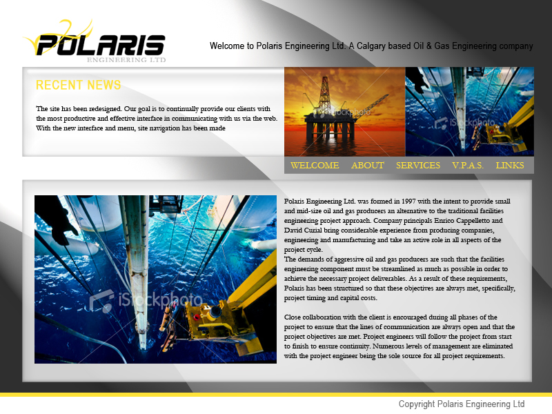 Web Page Design by keekee360 - Entry No. 19 in the Web Page Design Contest Polaris Engineering Ltd. requires a new re-branded landing p.