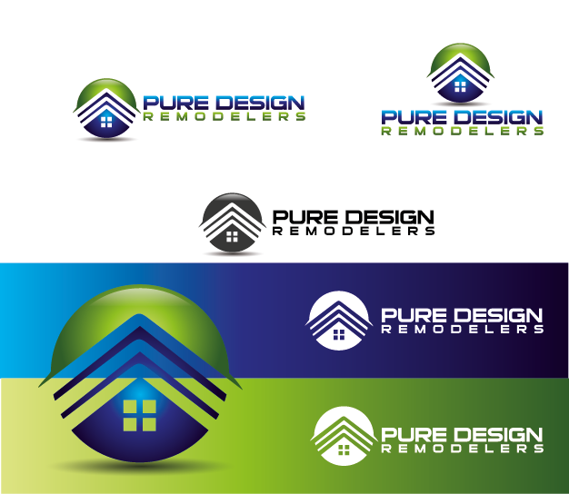 Logo Design by Private User - Entry No. 11 in the Logo Design Contest Custom Logo Design for Pure Design Remodelers.