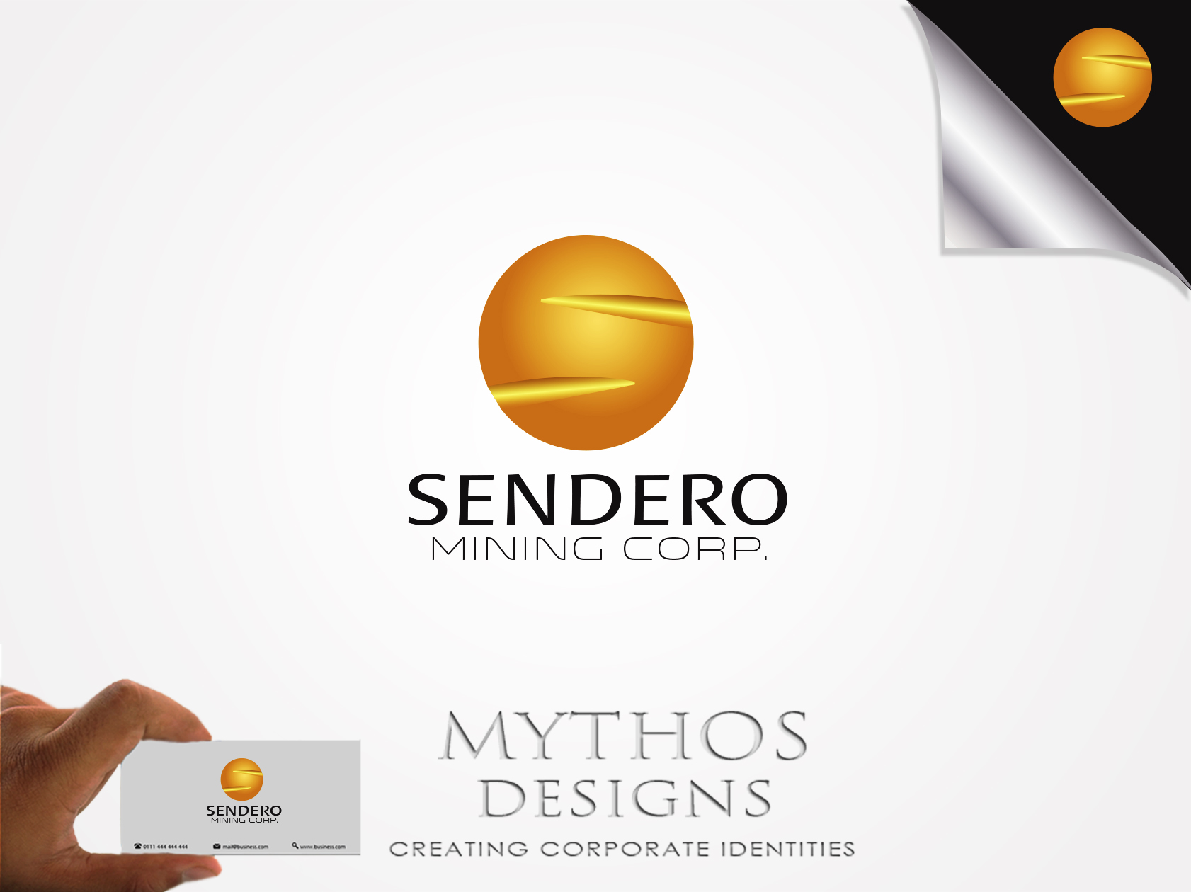 Logo Design by Mythos Designs - Entry No. 27 in the Logo Design Contest Unique Logo Design Wanted for Sendero Mining Corp..