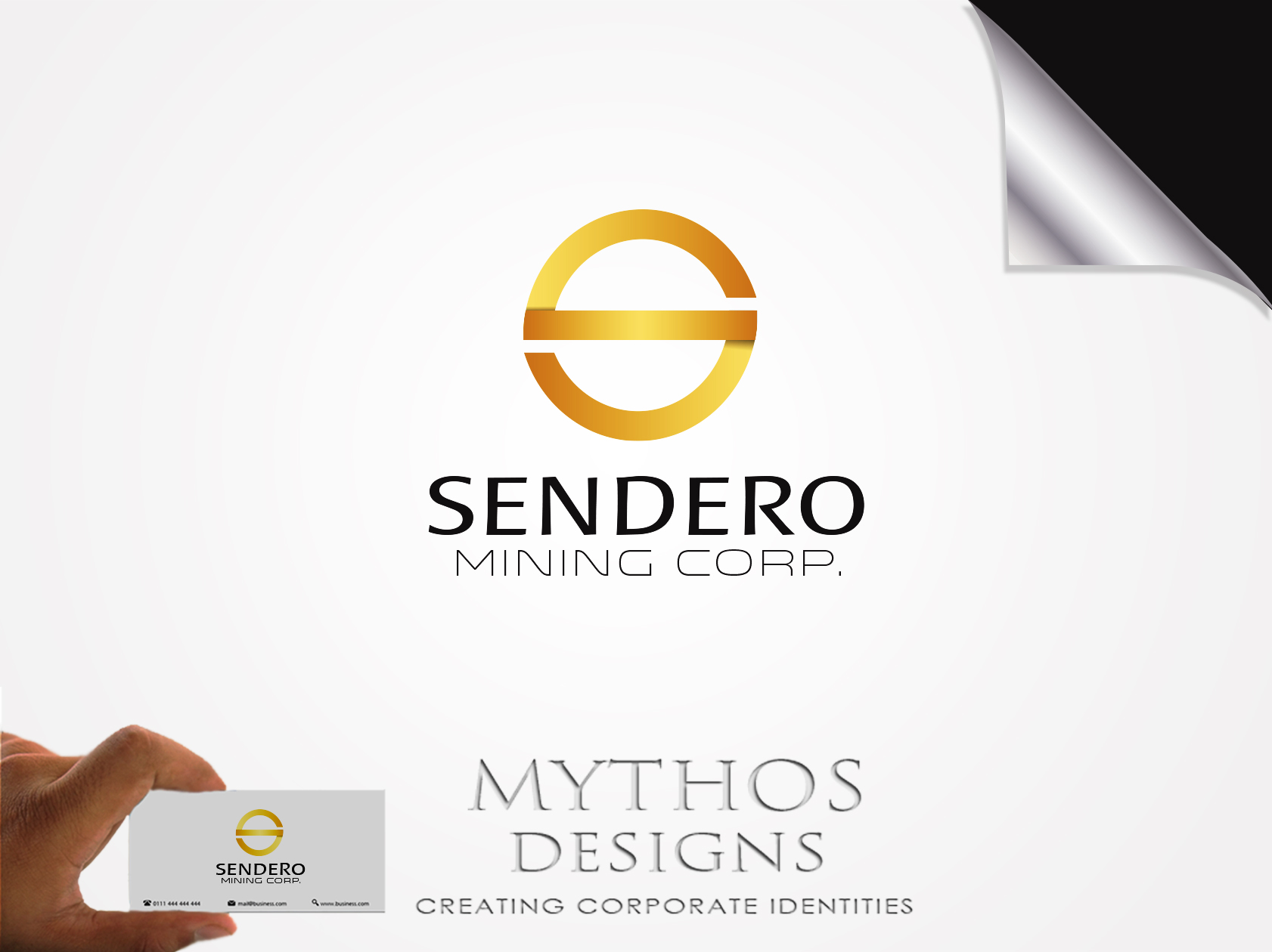 Logo Design by Mythos Designs - Entry No. 29 in the Logo Design Contest Unique Logo Design Wanted for Sendero Mining Corp..