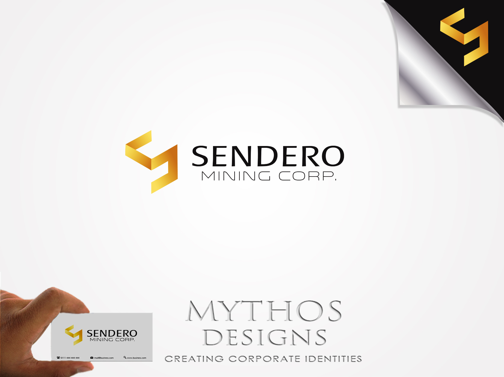 Logo Design by Mythos Designs - Entry No. 30 in the Logo Design Contest Unique Logo Design Wanted for Sendero Mining Corp..
