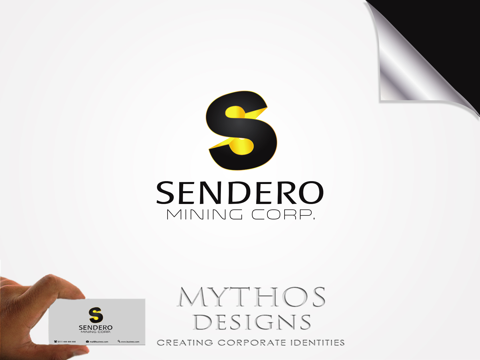 Logo Design by Mythos Designs - Entry No. 31 in the Logo Design Contest Unique Logo Design Wanted for Sendero Mining Corp..