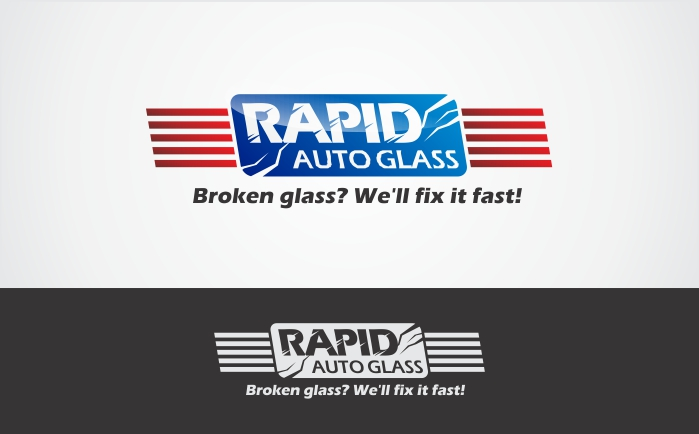 Logo Design by Dimas Irawan - Entry No. 2 in the Logo Design Contest Unique Logo Design Wanted for Rapid Auto Glass.