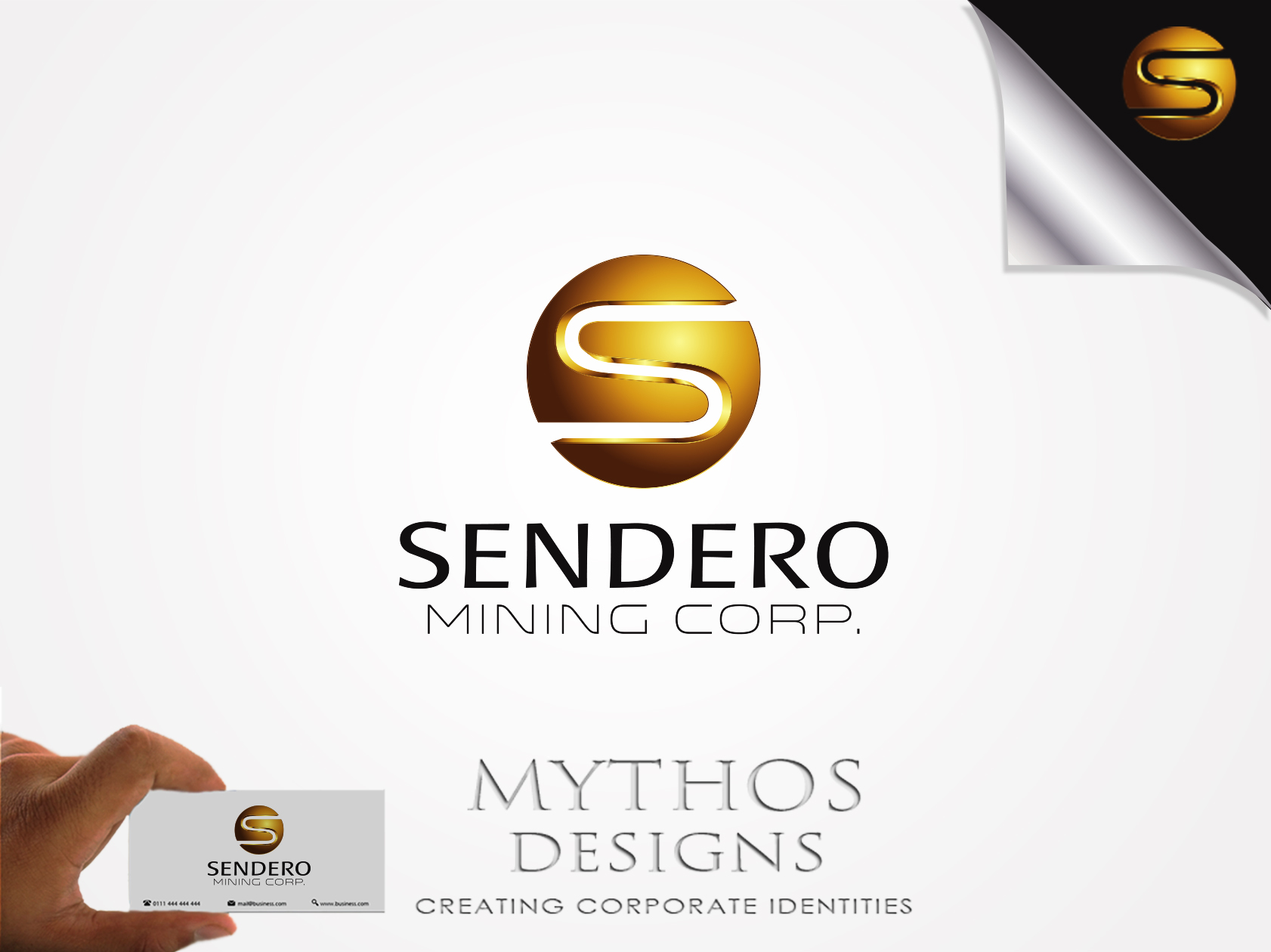 Logo Design by Mythos Designs - Entry No. 61 in the Logo Design Contest Unique Logo Design Wanted for Sendero Mining Corp..