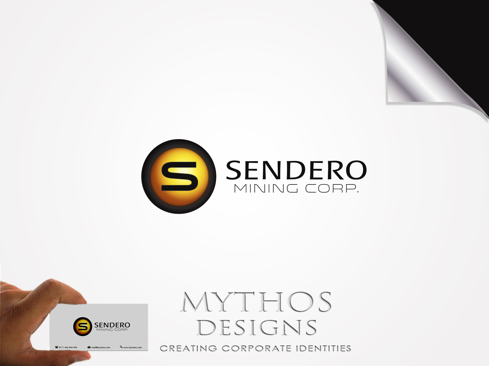 Logo Design by Mythos Designs - Entry No. 62 in the Logo Design Contest Unique Logo Design Wanted for Sendero Mining Corp..