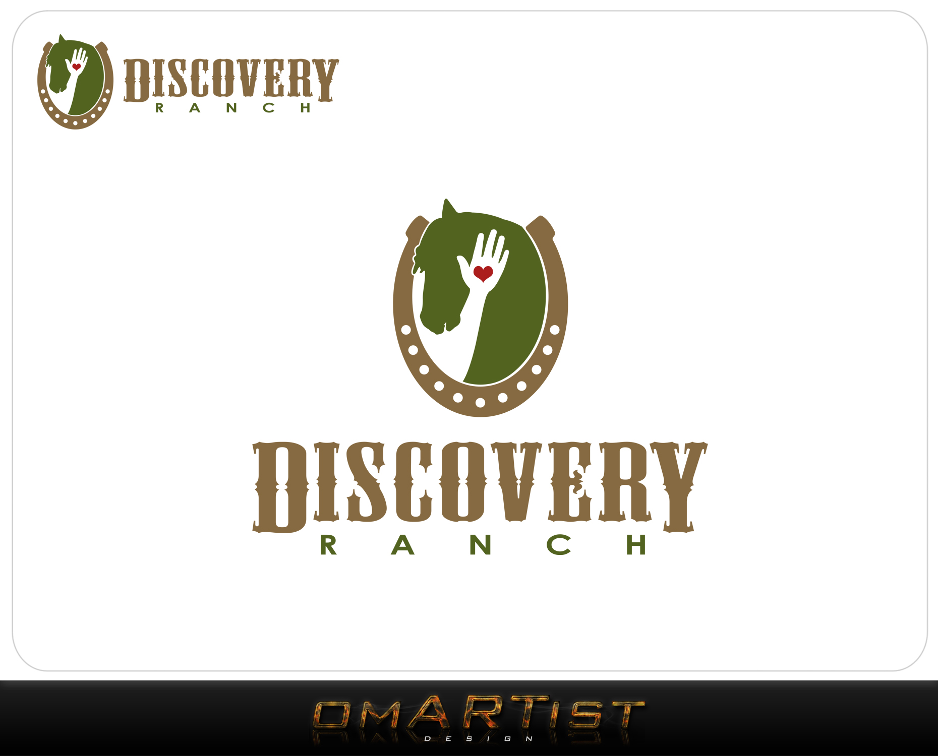 Logo Design by omARTist - Entry No. 129 in the Logo Design Contest Creative Logo Design for Discovery Ranch.