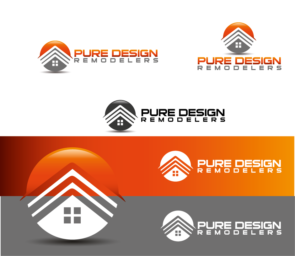 Logo Design by Private User - Entry No. 20 in the Logo Design Contest Custom Logo Design for Pure Design Remodelers.