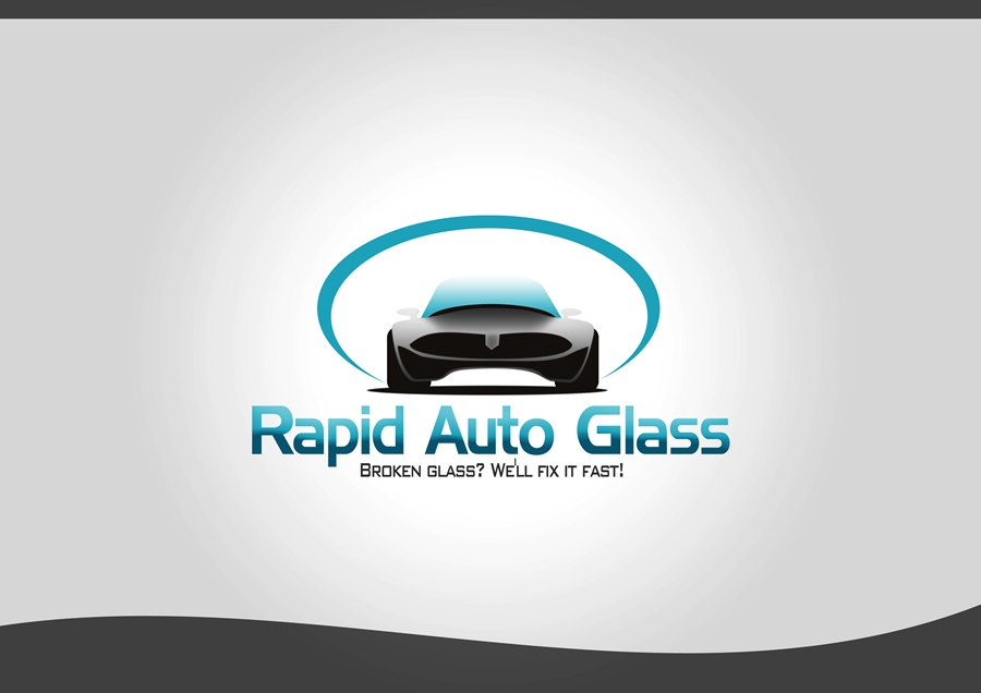Logo Design by Respati Himawan - Entry No. 14 in the Logo Design Contest Unique Logo Design Wanted for Rapid Auto Glass.