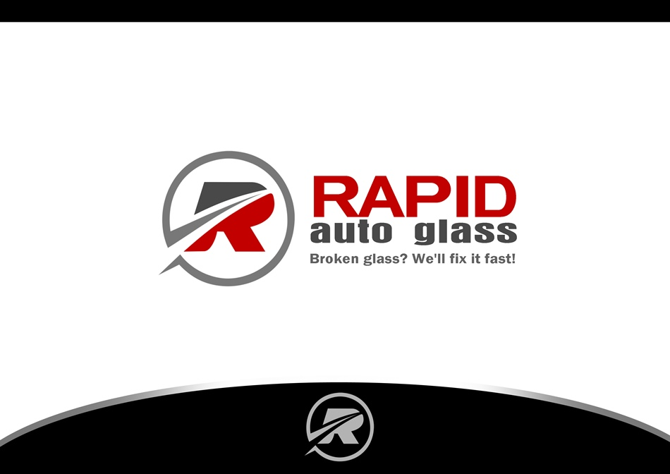 Logo Design by Respati Himawan - Entry No. 17 in the Logo Design Contest Unique Logo Design Wanted for Rapid Auto Glass.