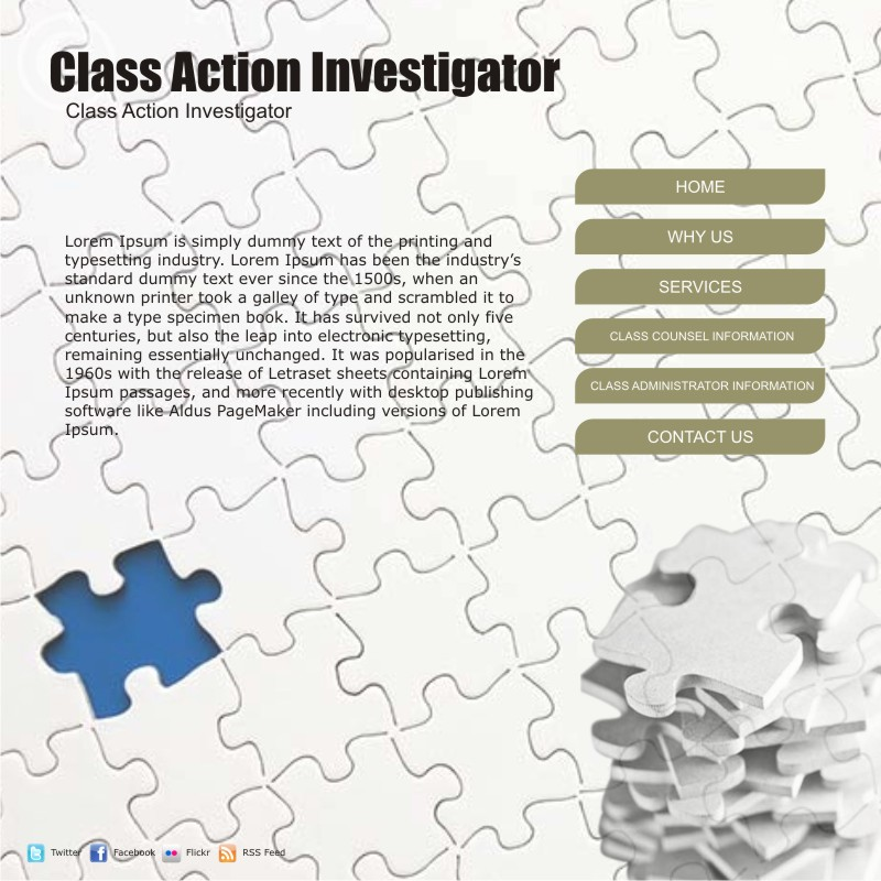 Web Page Design by uno - Entry No. 23 in the Web Page Design Contest Private Investigator locates class action members 4 attys/ad.