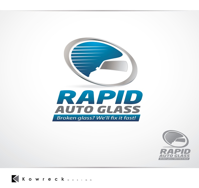 Logo Design by kowreck - Entry No. 23 in the Logo Design Contest Unique Logo Design Wanted for Rapid Auto Glass.
