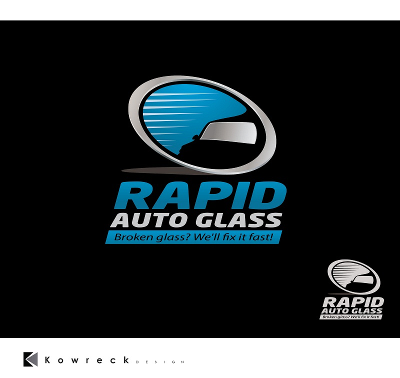 Logo Design by kowreck - Entry No. 24 in the Logo Design Contest Unique Logo Design Wanted for Rapid Auto Glass.