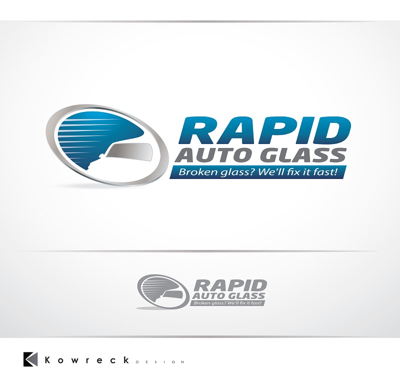 Logo Design by kowreck - Entry No. 25 in the Logo Design Contest Unique Logo Design Wanted for Rapid Auto Glass.