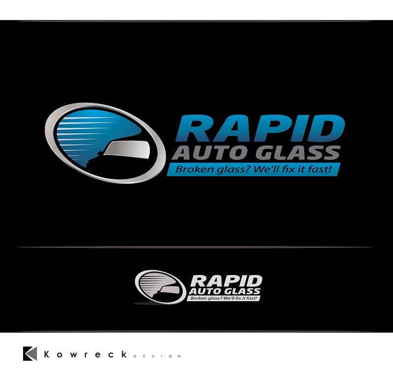 Logo Design by kowreck - Entry No. 26 in the Logo Design Contest Unique Logo Design Wanted for Rapid Auto Glass.