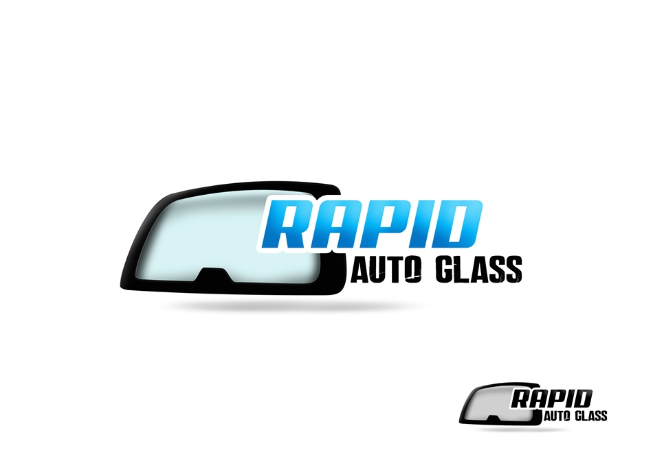 Logo Design by Respati Himawan - Entry No. 32 in the Logo Design Contest Unique Logo Design Wanted for Rapid Auto Glass.