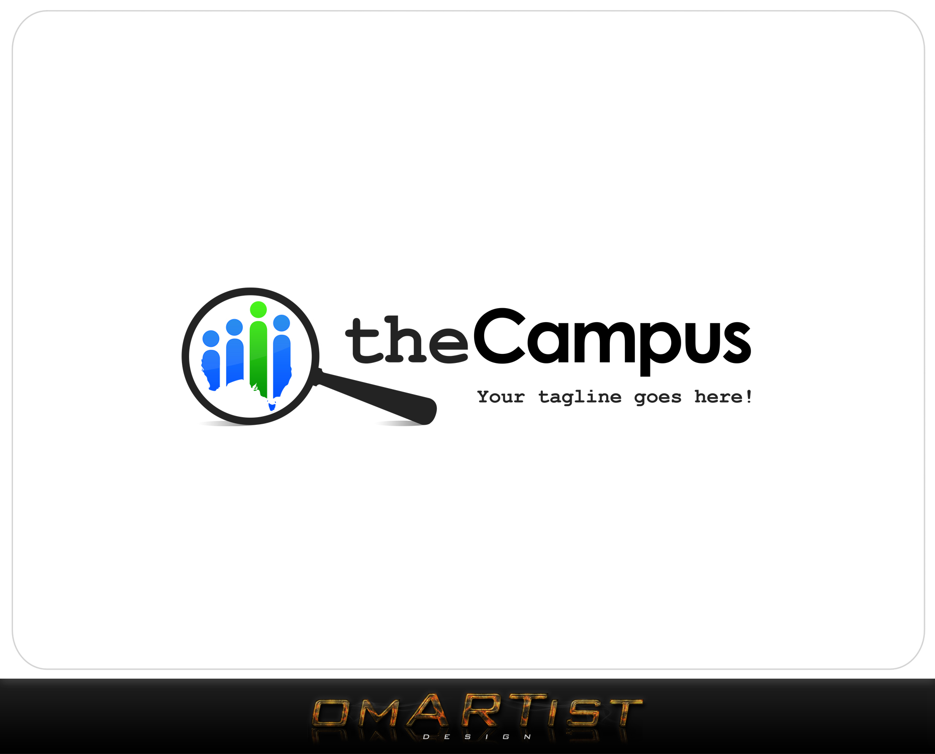 Logo Design by omARTist - Entry No. 1 in the Logo Design Contest theCampus Logo Design.