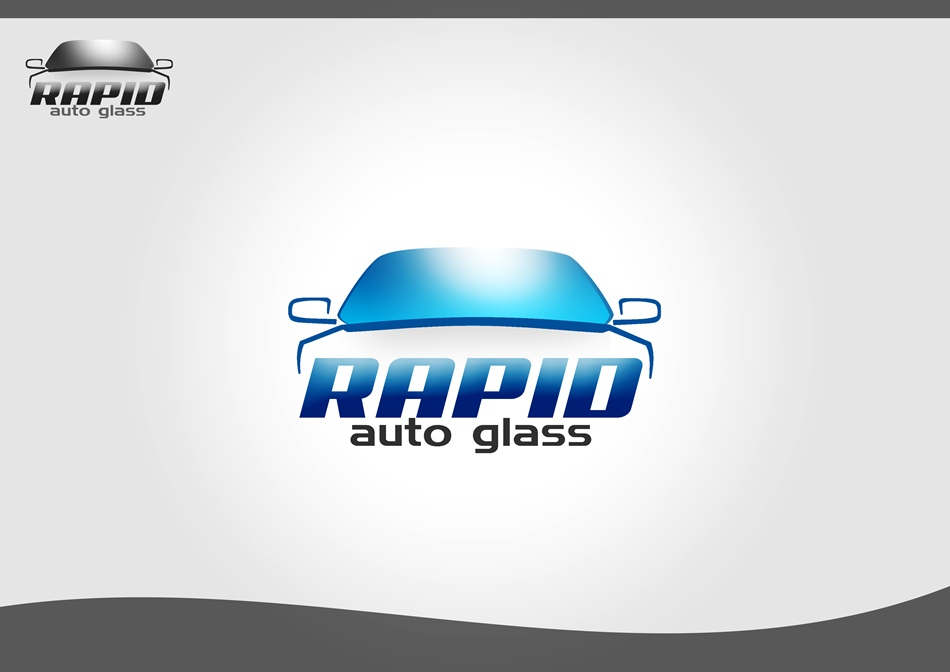 Logo Design by Respati Himawan - Entry No. 34 in the Logo Design Contest Unique Logo Design Wanted for Rapid Auto Glass.