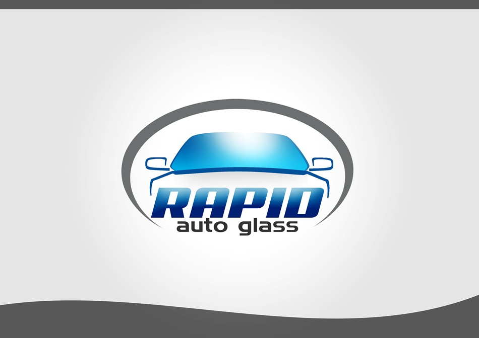 Logo Design by Respati Himawan - Entry No. 35 in the Logo Design Contest Unique Logo Design Wanted for Rapid Auto Glass.