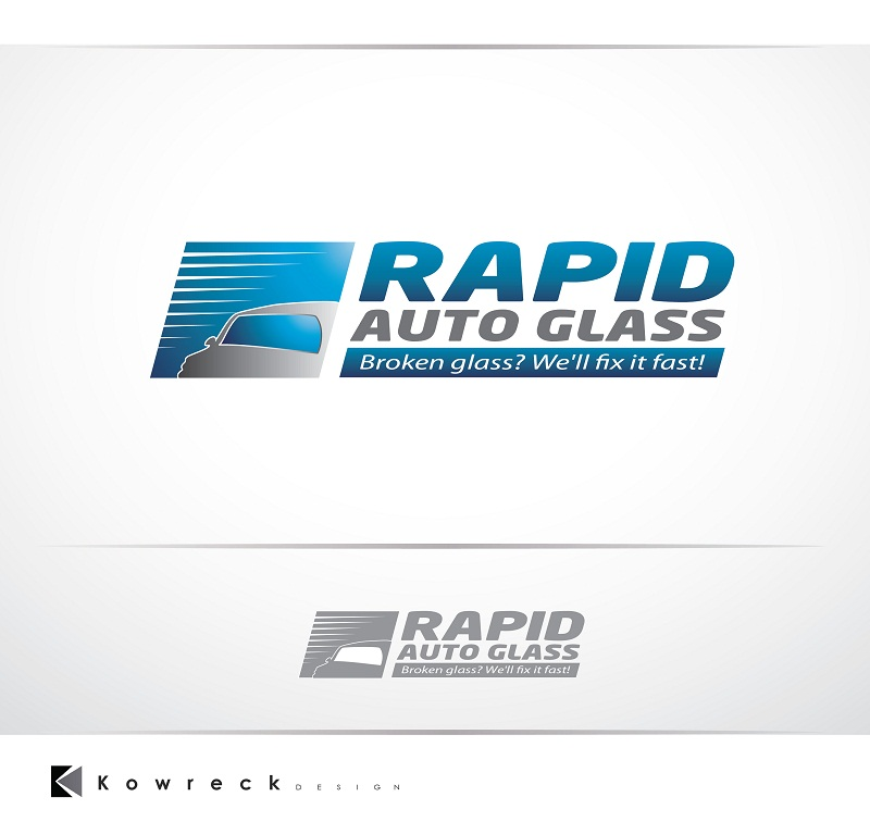 Logo Design by kowreck - Entry No. 36 in the Logo Design Contest Unique Logo Design Wanted for Rapid Auto Glass.
