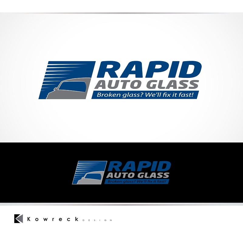 Logo Design by kowreck - Entry No. 37 in the Logo Design Contest Unique Logo Design Wanted for Rapid Auto Glass.