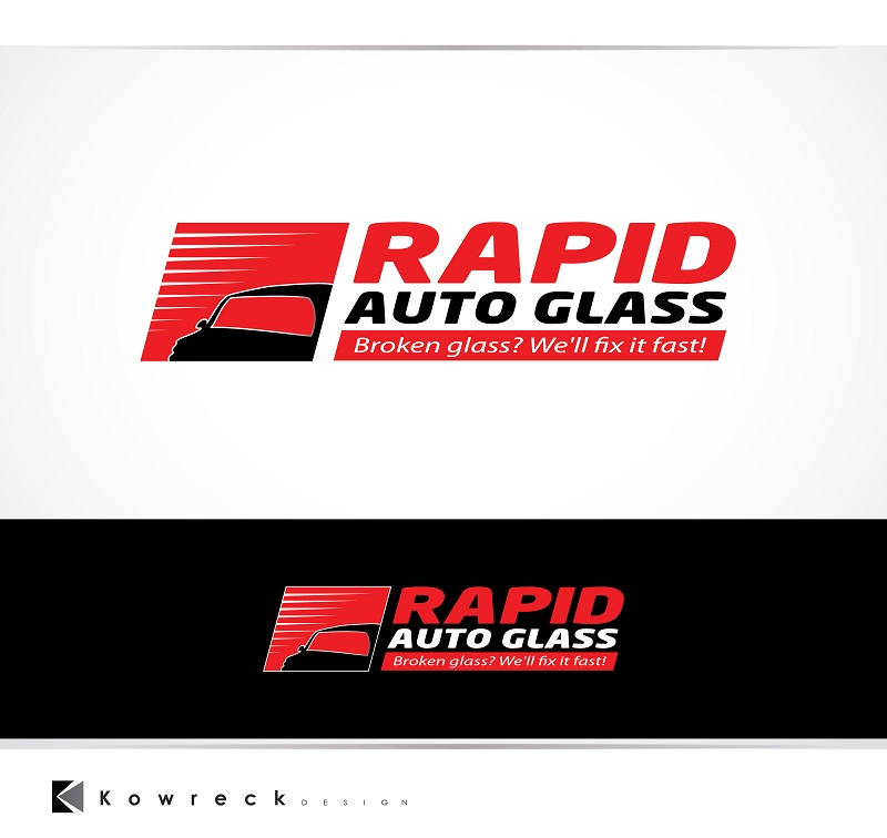Logo Design by kowreck - Entry No. 38 in the Logo Design Contest Unique Logo Design Wanted for Rapid Auto Glass.